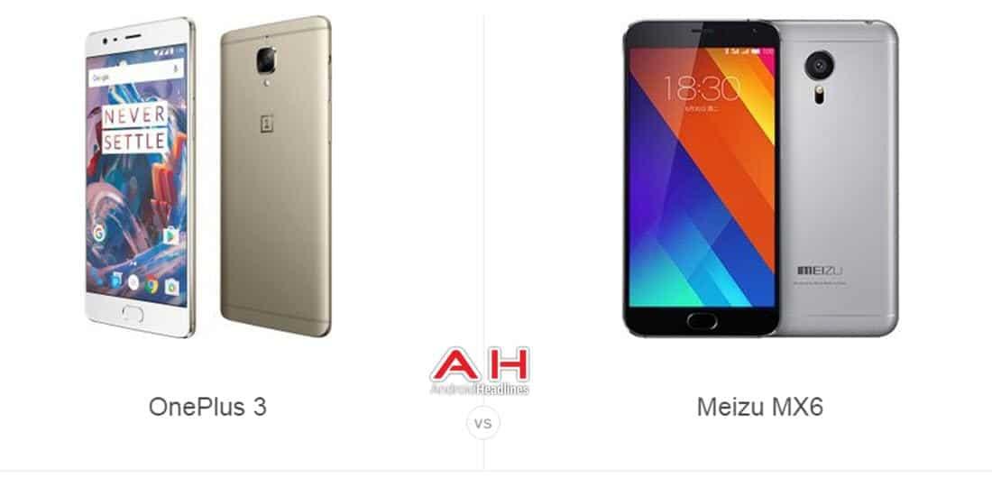 OnePlus 3 vs Meizu MX6 cam AH