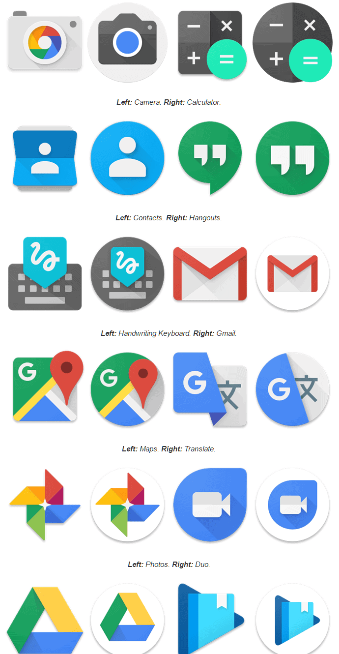 google apps to get round icons in android 71
