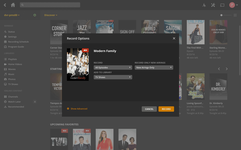 Plex DVR 9