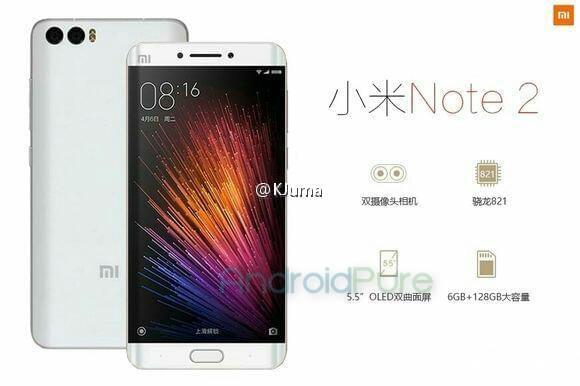 Xiaomi Mi Note 2 Leak KK
