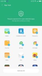 Xiaomi Redmi Pro AH NS screenshots app locker