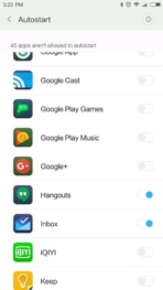 Xiaomi Redmi Pro AH NS screenshots battery auto start
