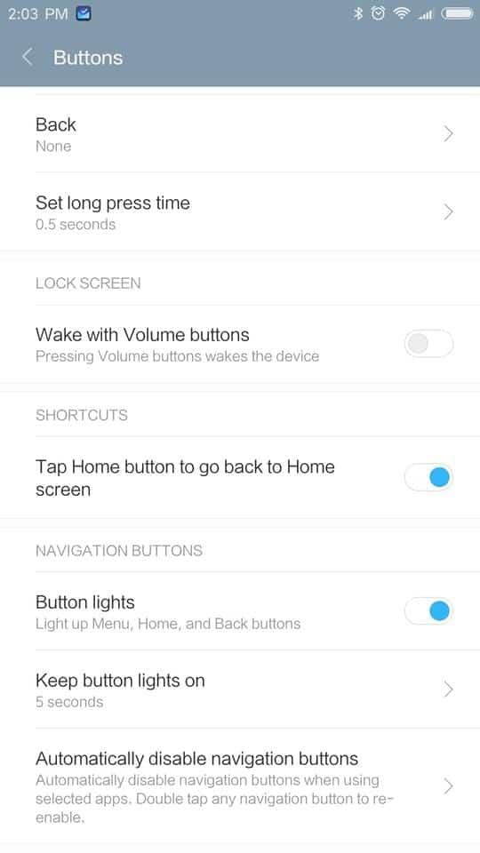 Xiaomi Redmi Pro AH NS screenshots buttons 2