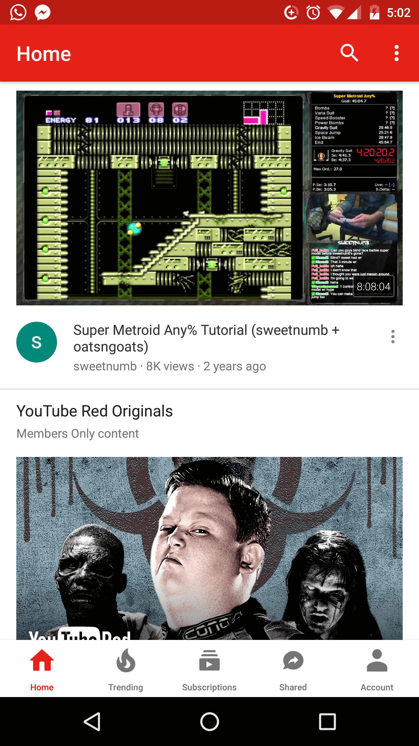 YouTube bottom nav bar UI 2