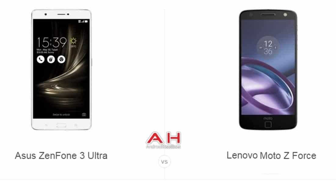 ZenFone 3 Ultra vs Moto Z Force cam AH