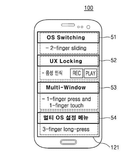 samsung dual boot ux patent 8