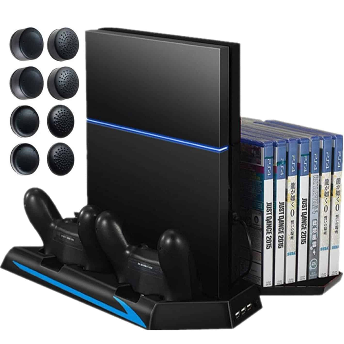sony official games tower and charging station for ps4. multi-functional ps4 vertical stand sony official games tower and charging station for ps4