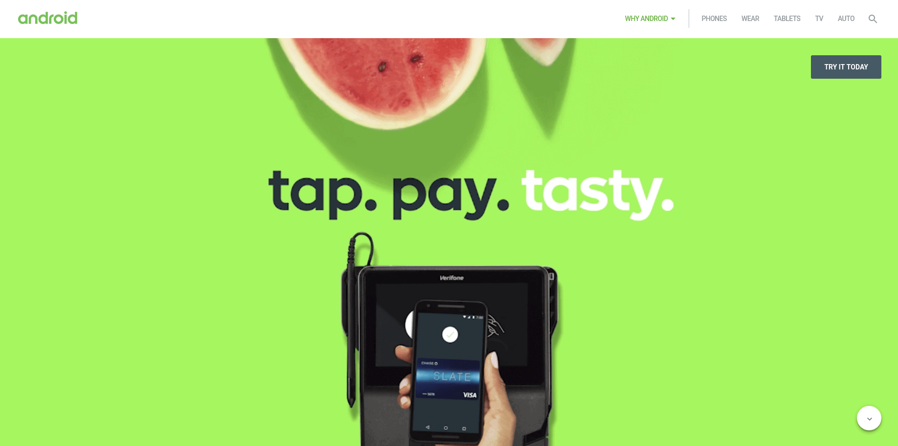 Android Pay new design screenshot 1