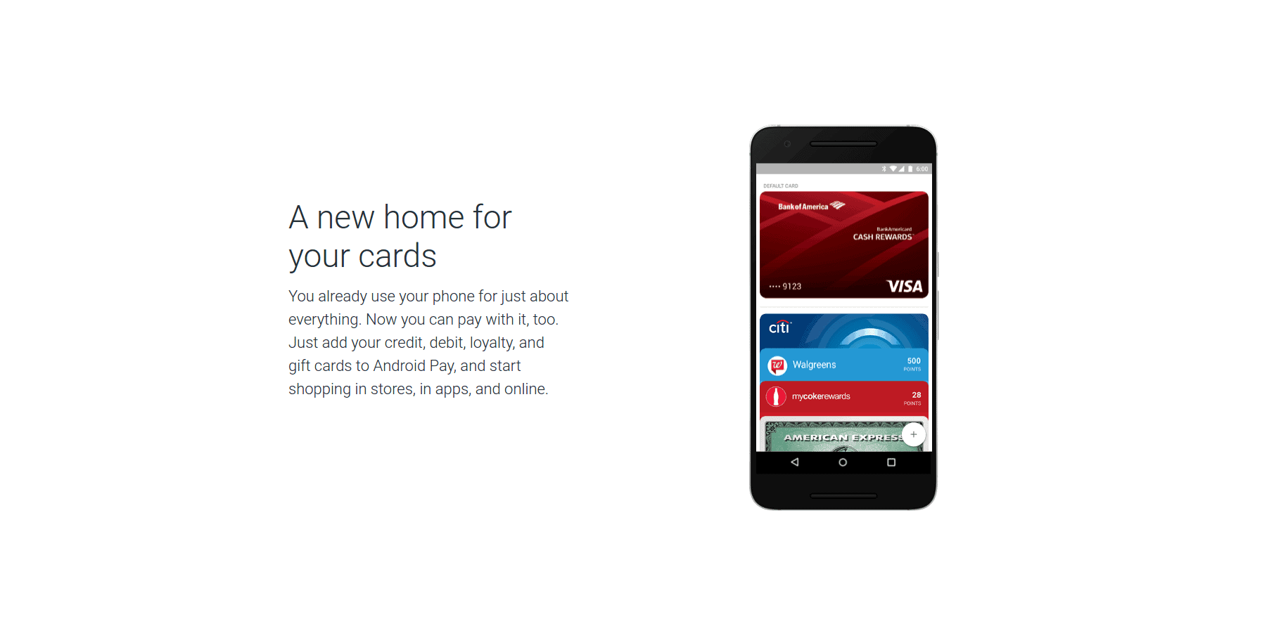 Android Pay new design screenshot 2