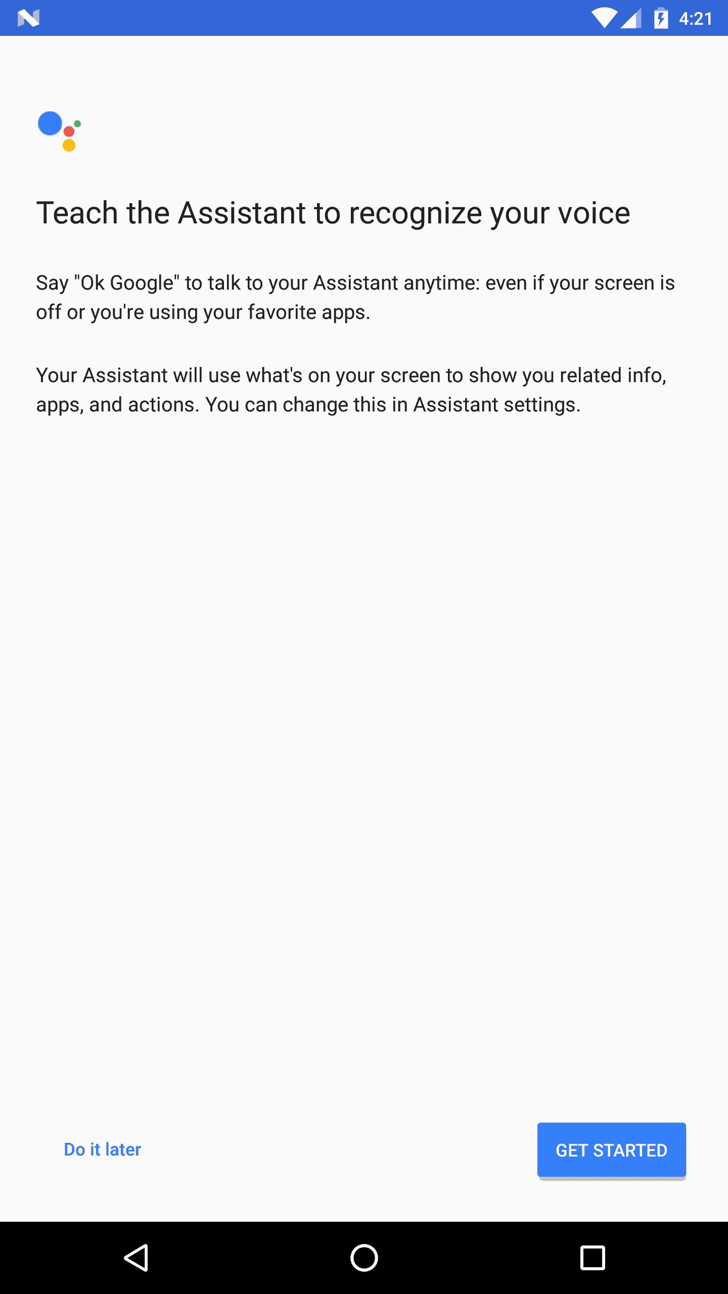 Google Assistant non Pixel Phone 4