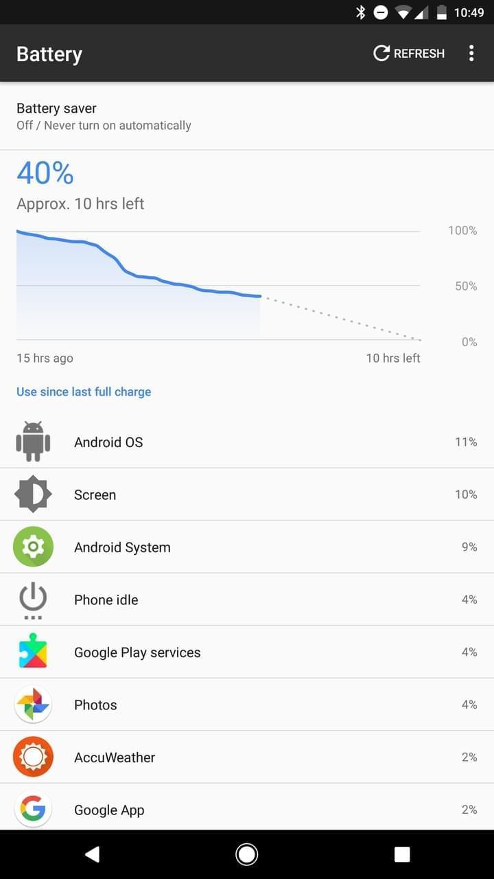 Google Pixel AH NS Screenshots battery day 1
