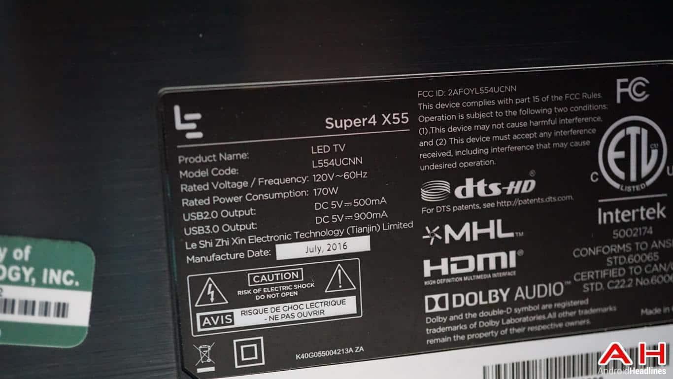LeEco Super4 X55 TV Hands On AH 14