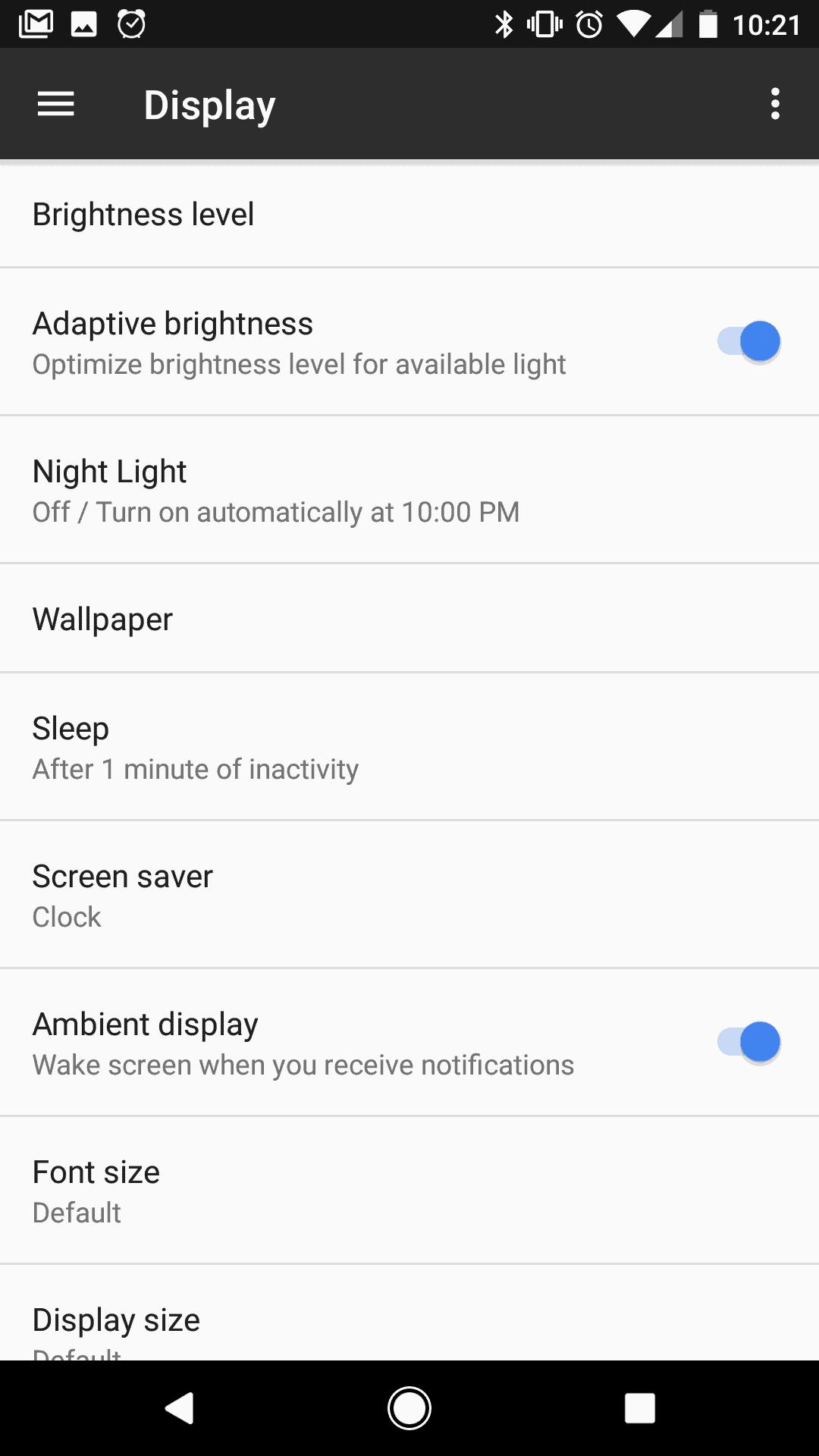 Night Light Mode Pixel 1