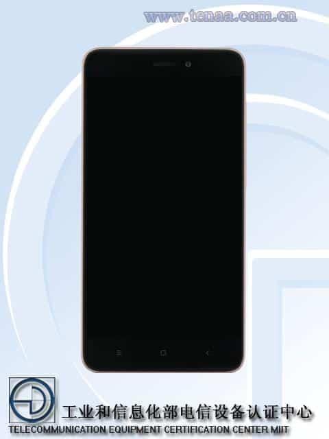 Xiaomi Redmi 4A TENAA 1