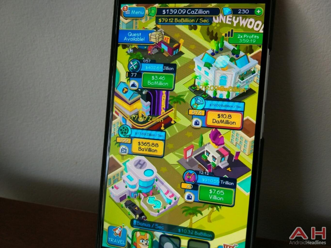 build your business empire in taps to riches game android news