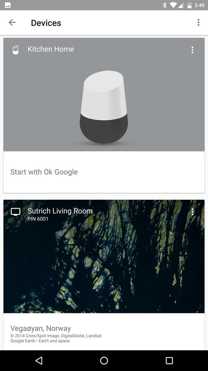 Google Home AH NS app cast devices