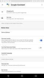 Google Home AH NS app privacy 1