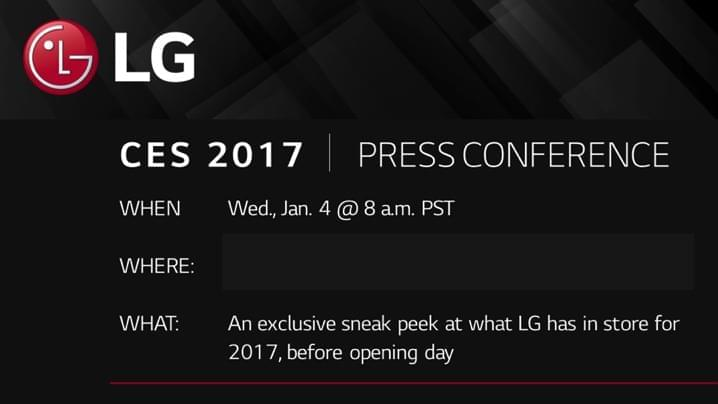 Lg Sending Out Invites For Their Ces 2017 Press Conference