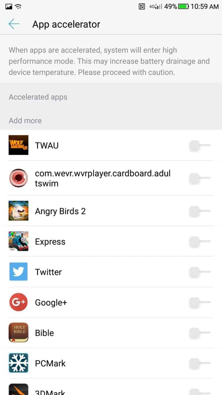 LeEco Le Pro3 AH NS screenshots app accelerator