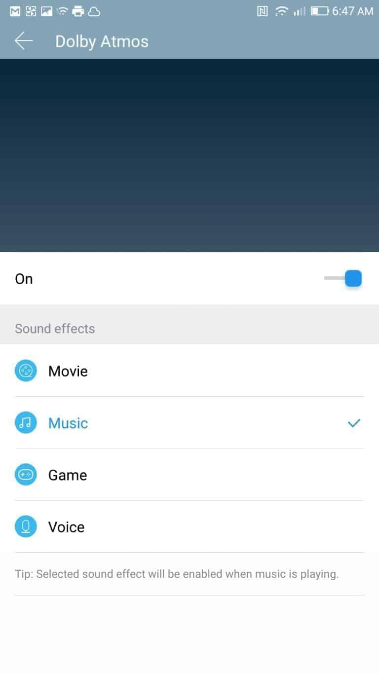 LeEco Le Pro3 AH NS screenshots audio dolby atmos