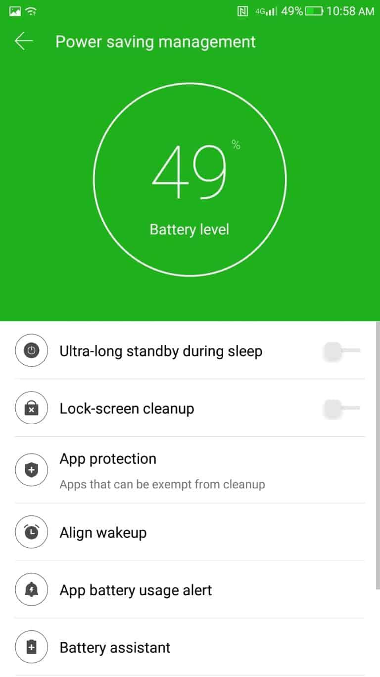 LeEco Le Pro3 AH NS screenshots battery power saving