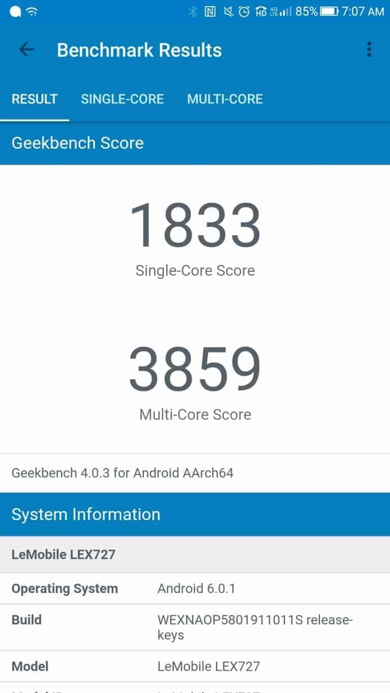 LeEco Le Pro3 AH NS screenshots benchmark 4