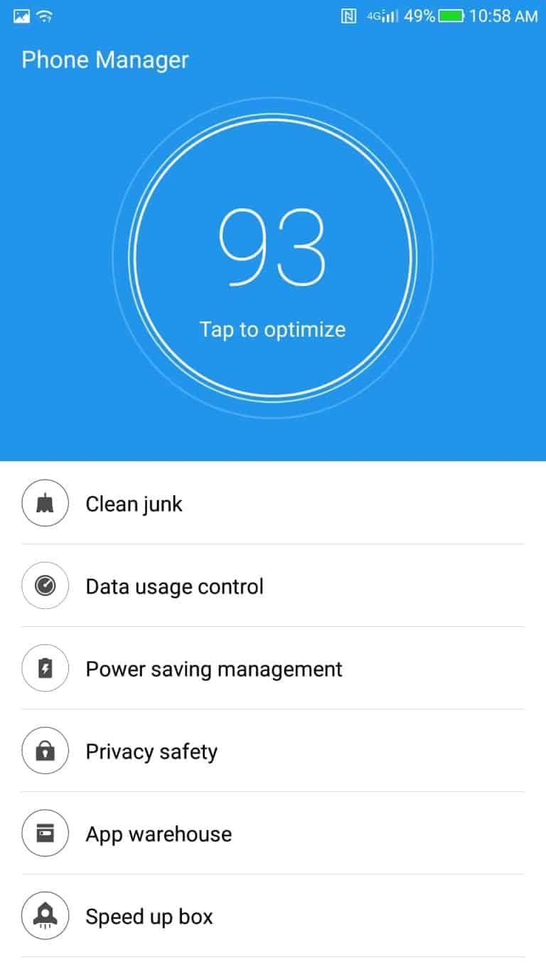 LeEco Le Pro3 AH NS screenshots phone manager