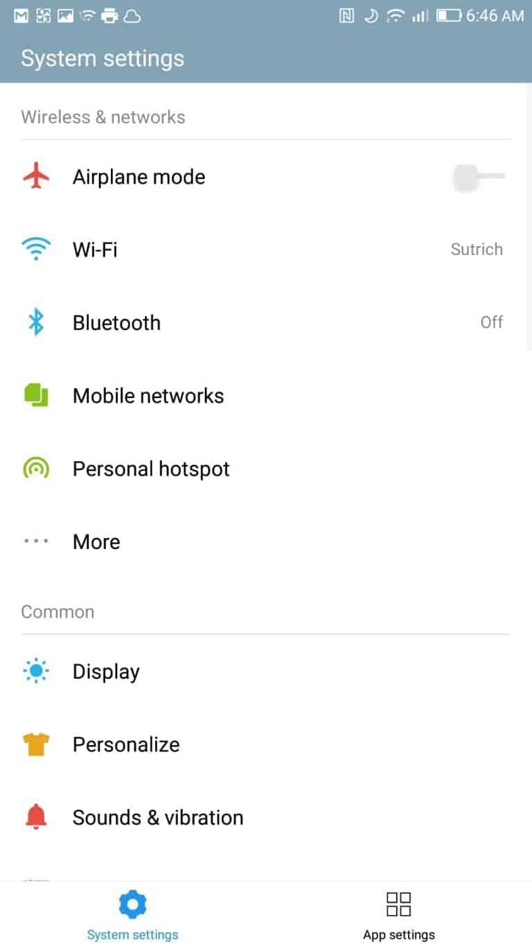 LeEco Le Pro3 AH NS screenshots settings regular