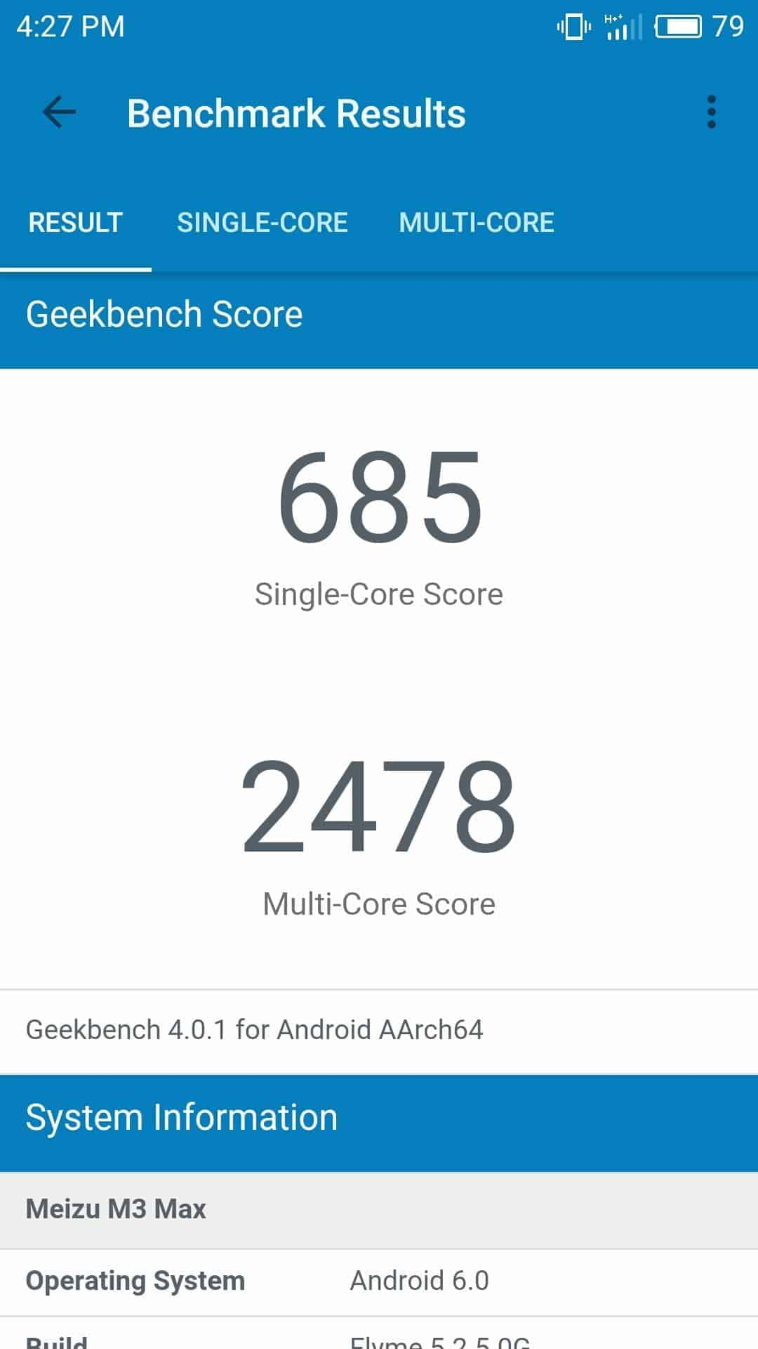 Meizu M3 Max AH NS Screenshots benchmarks 1