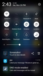 Meizu M3 Max AH NS Screenshots ui quick toggles