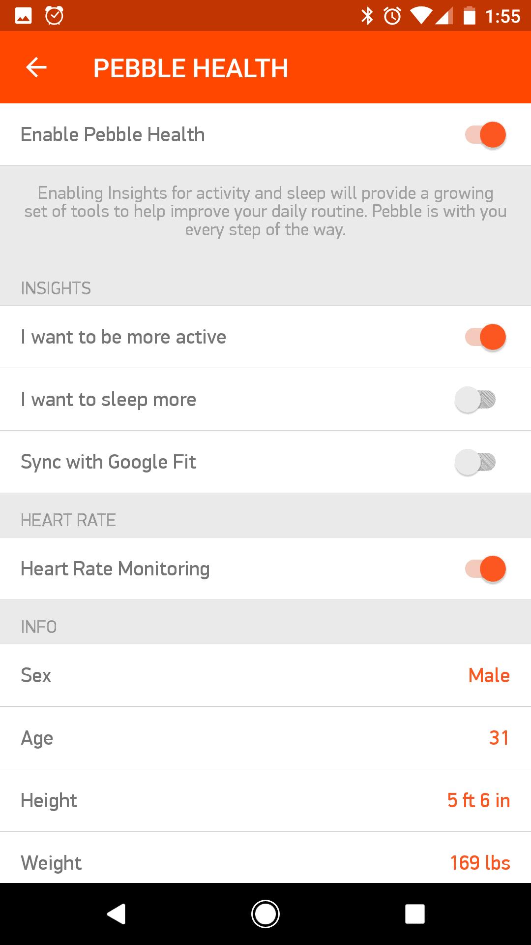 Pebble Companion App 7