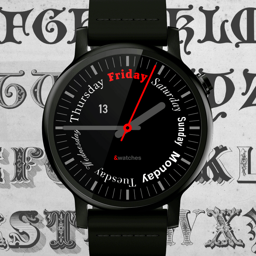 seven-days-watch-face-play-store