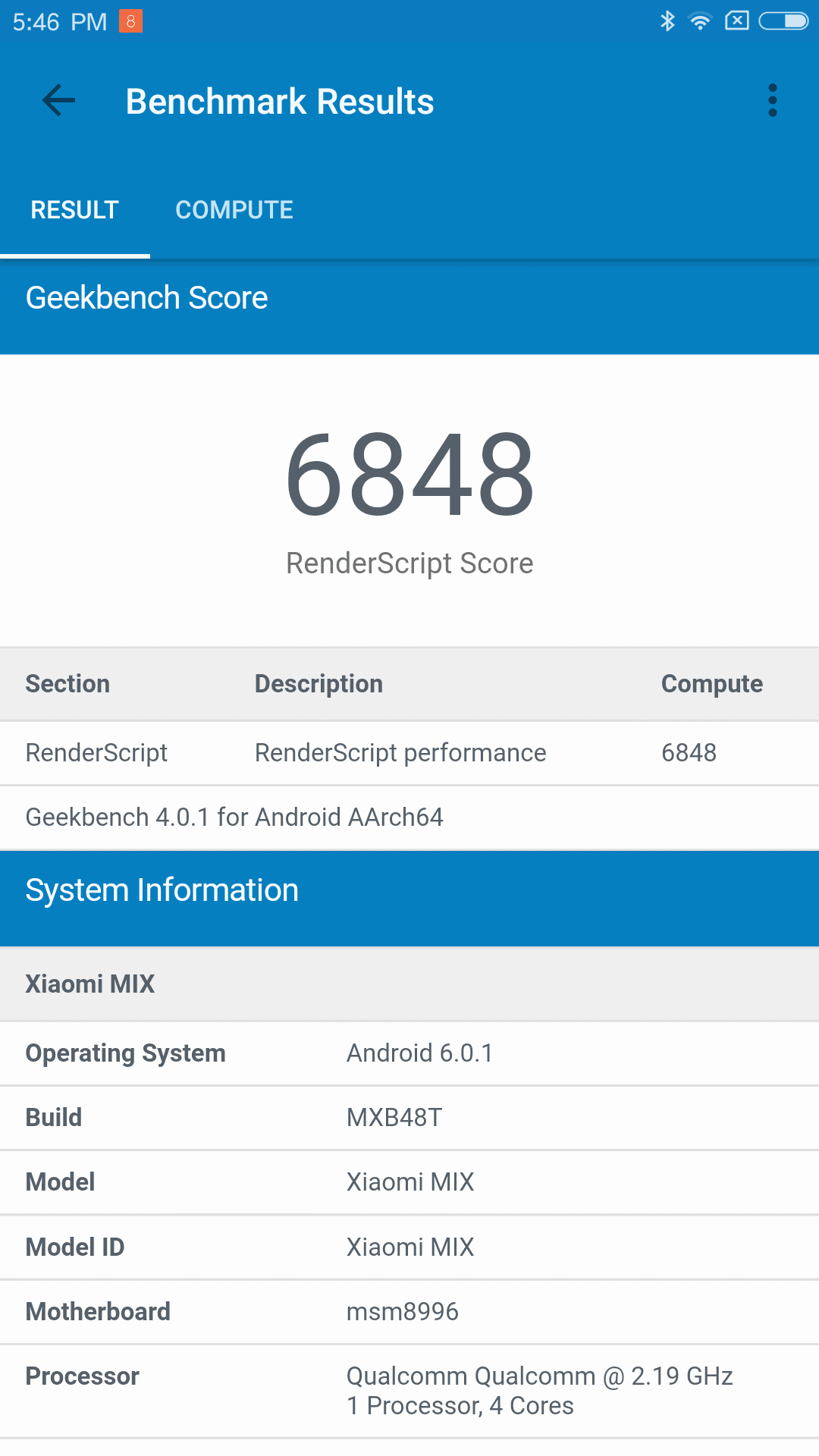 Xiaomi Mi MIX AH NS Screenshots benchmark 4