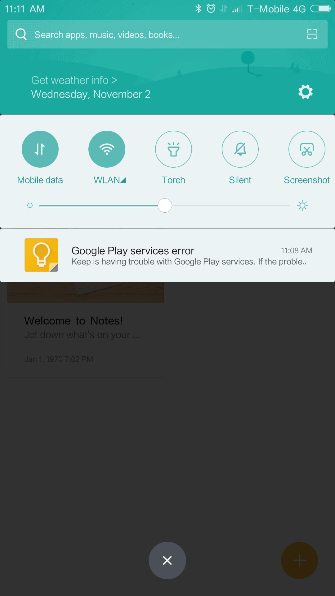 Xiaomi Mi MIX AH NS Screenshots google play error