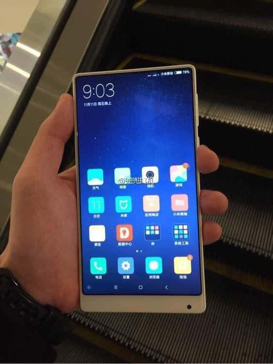 Xiaomi Mi MIX white leak 12
