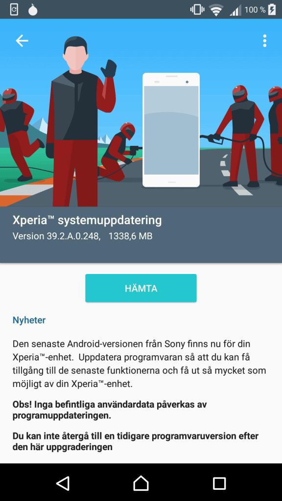 Xperia X Performance Android 7.0 Nougat Beta 3