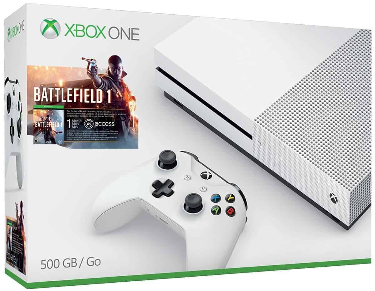 s battlefield 1 xbox one 500gb bundle s free engine. Black Bedroom Furniture Sets. Home Design Ideas