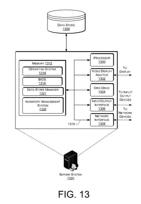 Amazon Flying Warehouse Patent 13