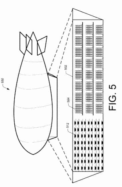 Amazon Flying Warehouse Patent 5