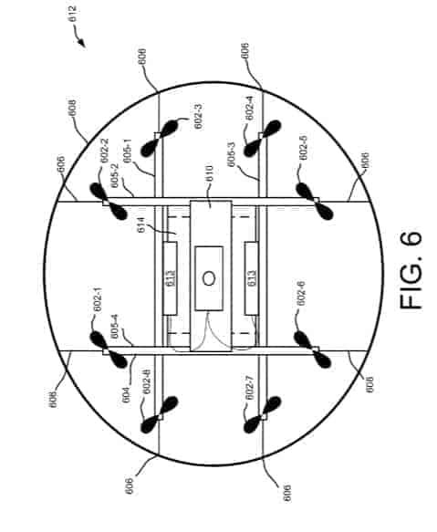 Amazon Flying Warehouse Patent 6