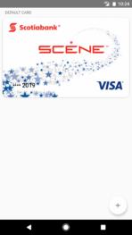 Android Pay Scotiabank Scene Visa Screenshot