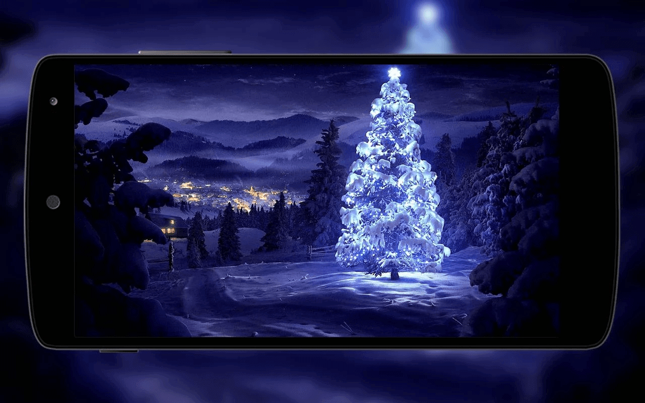 top 10 best christmas wallpaper android apps - december 2016