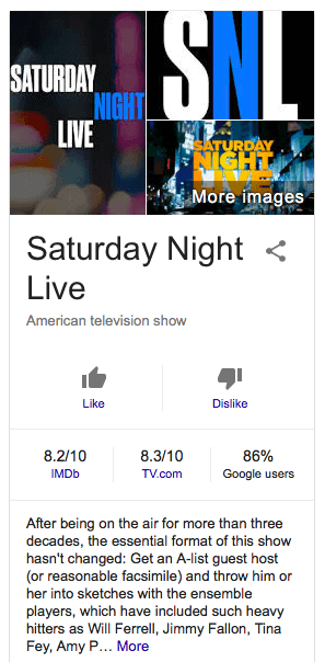 Google Starts Testing Its Own TV & Movie Ratings in Searches
