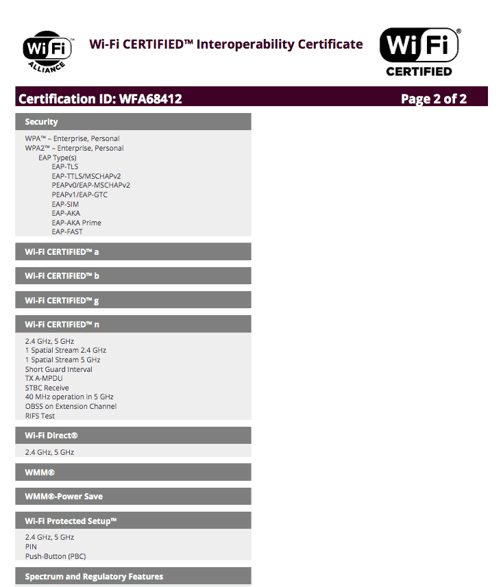 Samsung Galaxy C7 Pro SM Wi Fi Certification 02