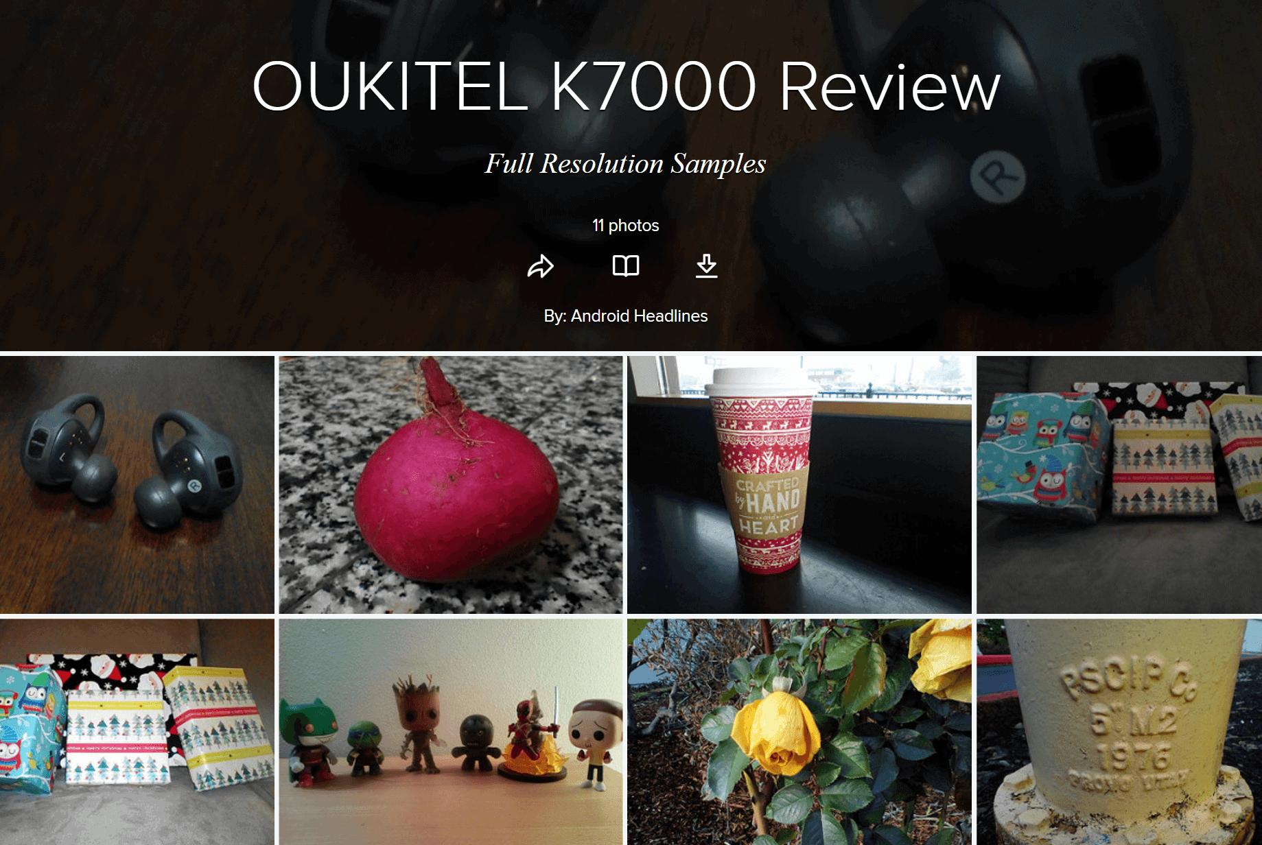 OUKITEL K7000 Samples