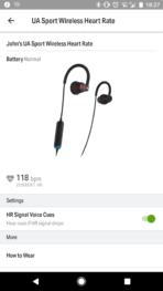 UA Wireless Heart Rate App 1