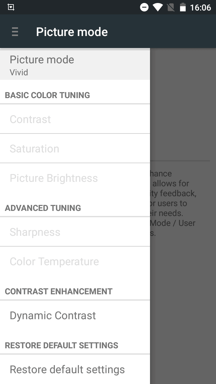 UHANS A101 Display Settings 1