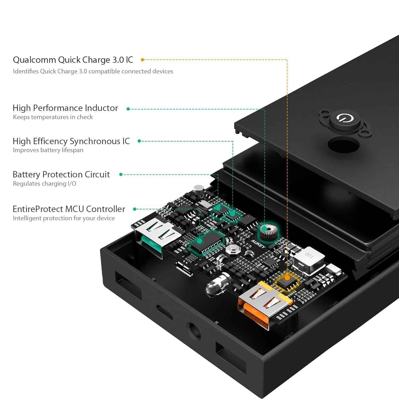 aukey 16000mah battery pack 5