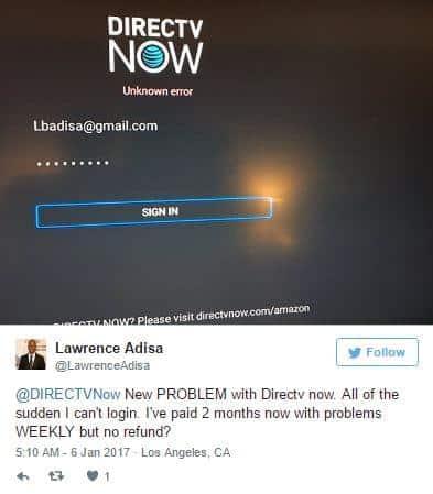DIRECTV NOW Twitter Complaint 4