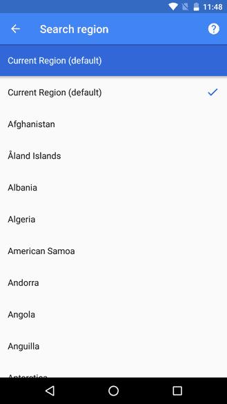 Google App Beta Search Region 2